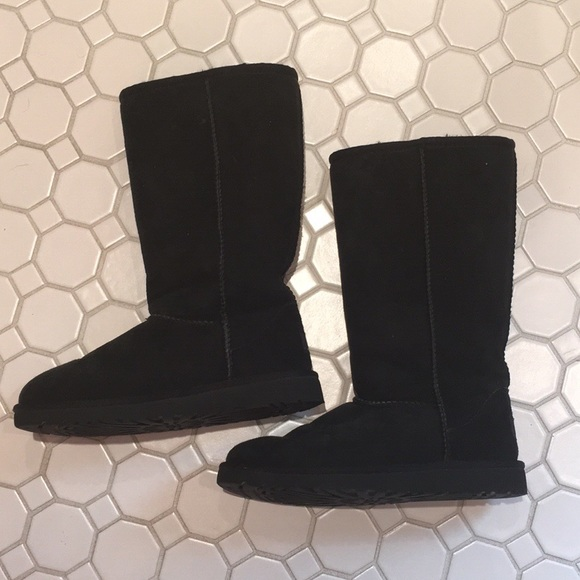 Black Tall UGG Boots - Kids - Size 3 (Girls)